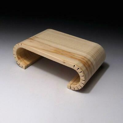 """VM1: Japanese Natural wooden Stand for Vase or Art Object, KADAI, 5.7"""" x 3.5"""""""