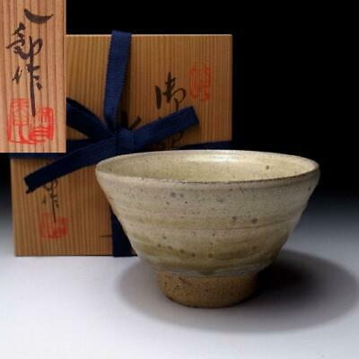 VJ7: Japanese Tea Bowl, Seto ware, Great Human Cultural Treasure, Hachiro Suzuki