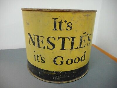 Vintage Its Nestles Its Good Galvanized Tin Display Stand