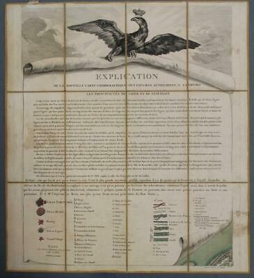 Netherlands & Belgium 1777 De Ferraris & Dupuis Large Antique Engraved Map