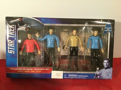 STAR TREK Classic TV Series Boxed Bendable Set with Kirk Spock Scotty & Dr McCoy