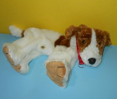 """BABW Build a Bear Jack Russell 14"""" Brown & White Puppy Dog Terrier Unstuffed"""