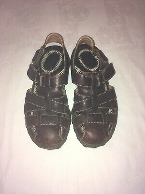 BORN MENS Brown LEATHER CLOSED TOE FISHERMAN SANDALS SIZE-9