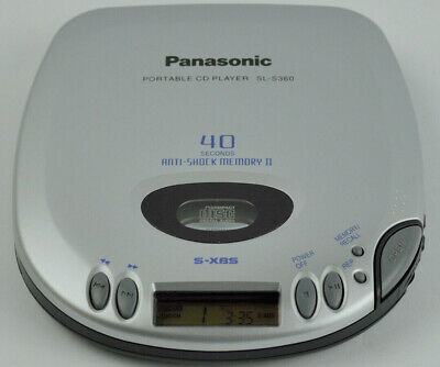 Vintage Panasonic Portable CD Player Model SL-S360 2AA Battery Tested Working