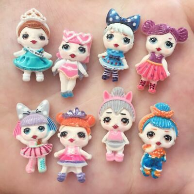 16PCS Resin hand-paint Lovely doll Flatback stone scrapbook wedding button craft