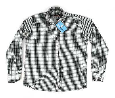 Pierre Cardin Green Check Mens Casual Shirt Size S