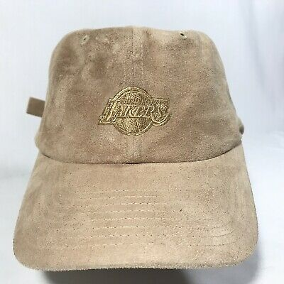 best sneakers 3b191 21fe4 NBA Los Angeles Lakers Mitchel Ness Suede Khaki Dad Hat Hook And Loop  Nostalgia