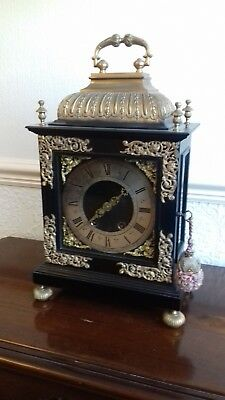 Reduced.. Marti et Cie Ebonised Bracket Clock with Bronze Ormolu Mounts Circ1875