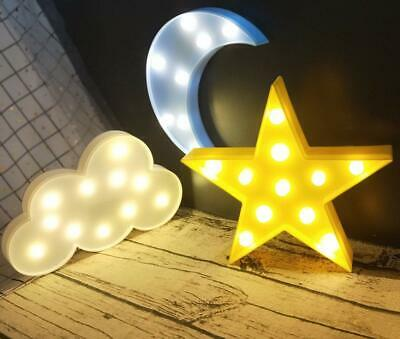 1 Set LED Nursery Night Lights Moon Star Cloud for Kids Bedroom Wall Decor Lamp