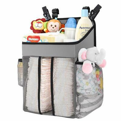 Zooawa Baby Crib Cot Bed Hanging Storage Bag Nursery Diaper Nappy Wipe Organizer