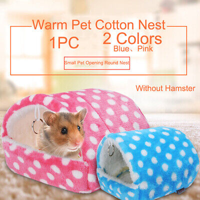 1 PC Small Animal Bed Cave Warm Cute Nest Hamster Guinea Pig Squirrel Hedgehog