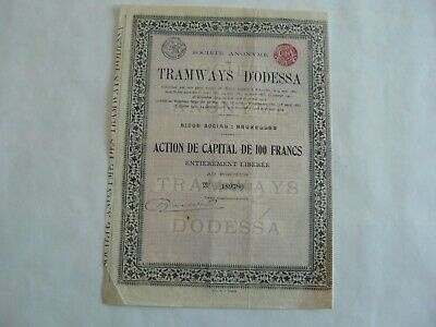 Actions De Capital - De 100 Francs - Tramways D'odessa - 1880