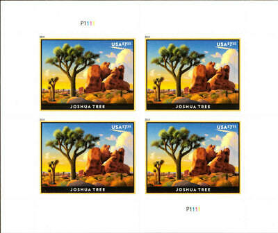 2019 $7.35 Joshua Tree, Desert Yucca, Priority Mail, Mint Sheet of 4 Scott 5347