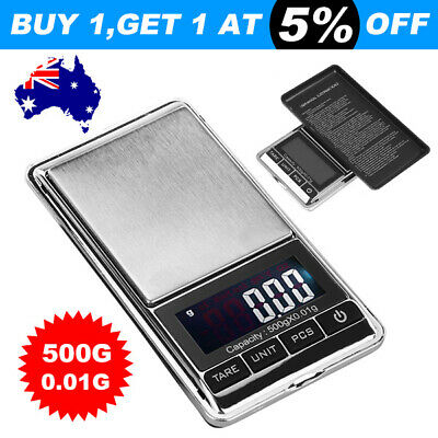 500g x0.01g Digital Scale Jewelry Portable Pocket Balance Gram LCD Herb Gold esm