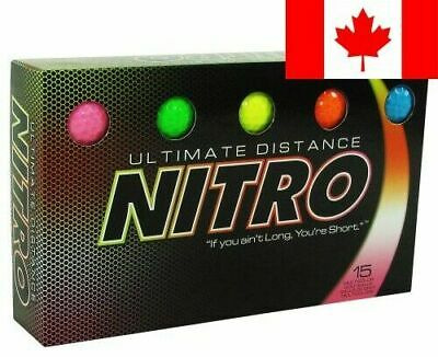 Nitro Ultimate Distance Golf Ball (15-Pack), Multi-Colored