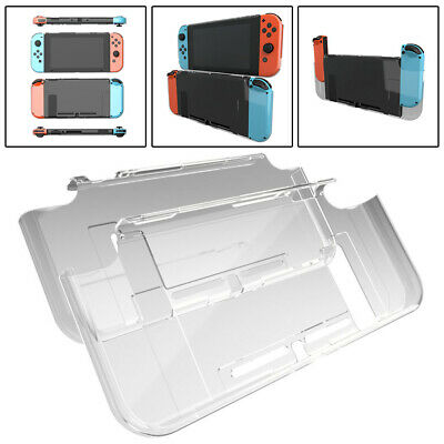 Dockable Clear Crystal Case Cover Anti-Scratch Protector For Nintendo Switch