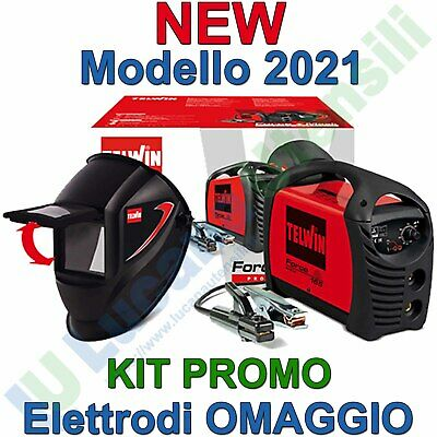 TELWIN SALDATRICE INVERTER modello FORCE 165 + MASCHERA e ACCESSORI KIT SALDATUR