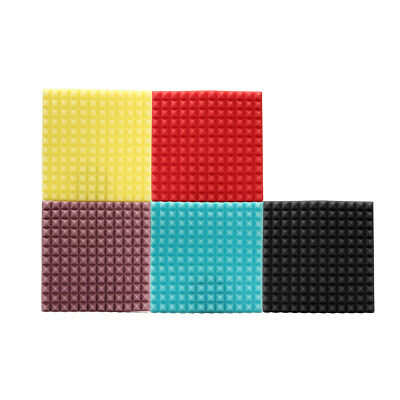 Pyramid Acoustic Wedge Studio Soundproofing Foam Wall Tiles 12'' x 12'' x 2''
