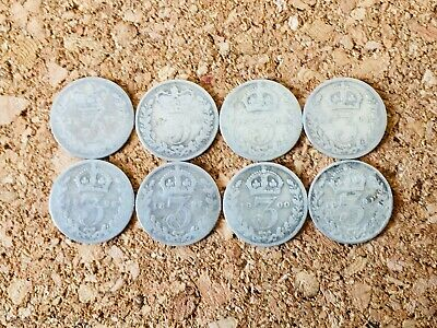 GB Queen Victoria Silver Threepence 1872-1901 Choose Your Year