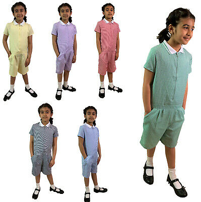 PLAYSUIT School Uniform Summer Gingham Girls Dress. Ages from 3 - 12