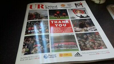 manchester united v Cardiff official programme 12/05/19