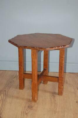 Octagonal Oak Petite Side Table, Oak Coffee Table