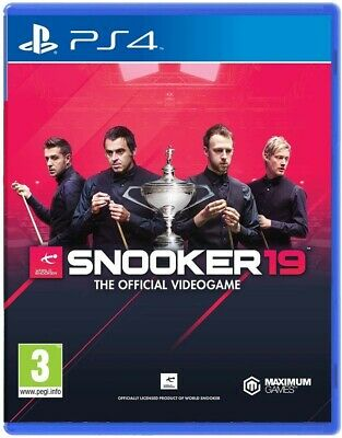 Snooker 19 - Sony PlayStation 4 PS4 - Brand New & Factory Sealed - PEGI UK