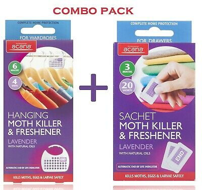 Acana Hanging Moth Killer and Wardrobe Sachets With The Fragrance Of Lavender