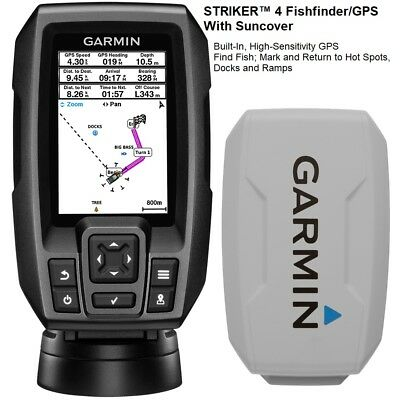 Garmin Chirp STRIKER™ 4 Fishfinder/GPS With Suncover And 77/200 kHz Transducer