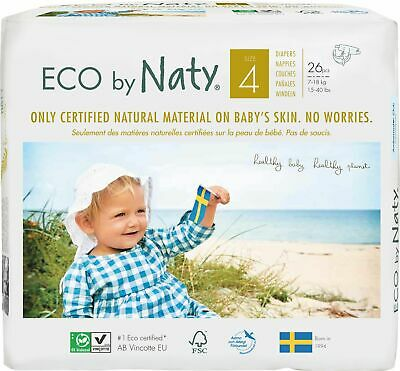 Eco by Naty Size 4 Nappies, 26 Nappies Per Pack