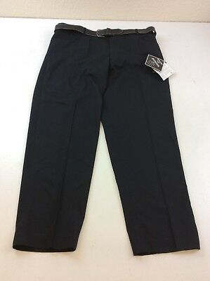 """B732 C&A Teflon Back to School Boy's Black Trousers Size W38"""" S New With Tags"""