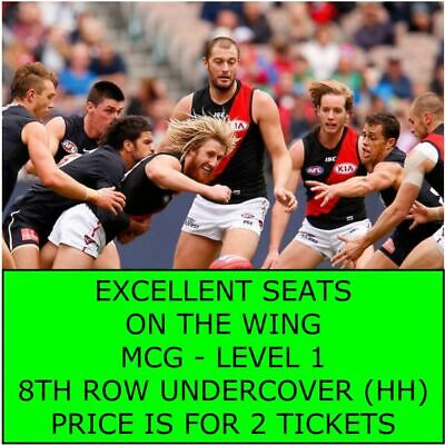 RD11 Essendon Bombers Vs V Carlton Blues - 2 x Adult Tickets Level 1 On the Wing