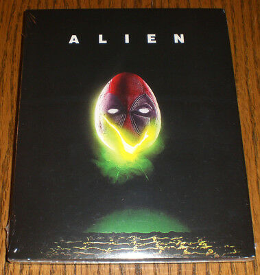 Alien 1979 Blu-ray Deadpool Photobomb Slipcover Rare BRAND NEW Walmart Exclusive