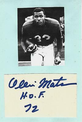 Signed Ollie Matson 1930-2011 US 1952 Olympic Games NFL Los Angeles Rams Chicago