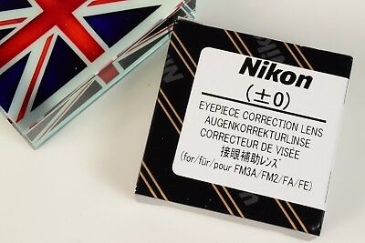 Nikon Eyepiece Correction Lens Diopter +- 0 For Fe Fe2 Fm Fm2 Fm3 Fm3T Fa Camera