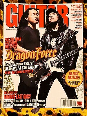 Guitar World Magazine Nov 2008 Aerosmith Dream Theater BB King Radiohead Avenged