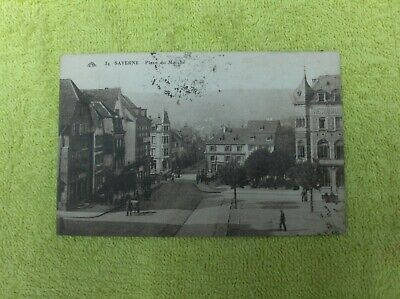 Vintage : carte postale France  Saverne place du Marché état voir photos
