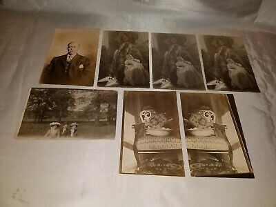 Antique Vintage Mixed Lot of Photo Postcards - Rockefeller Family (?)
