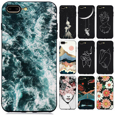 For iphone 11 Pro Max X 7 6 Slim Soft Silicone Shockproof Painted TPU Case Cover