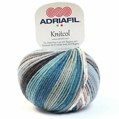 Adriafil Knitcol DK Yarn / Wool 50g - Sea Fancy (075)