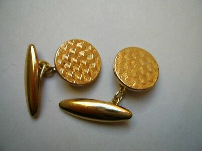 Vintage Art Deco Style Gold Plated Chain Linked Cufflinks 1930'S/1940'S