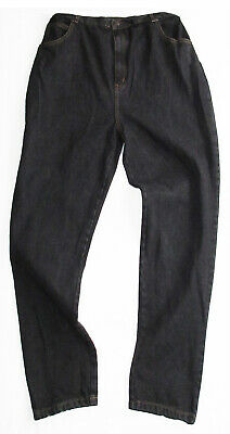 ARIZONA Ladies Dark Faded Black Denim Jeans Size 20 Elastic Waist Womens -New