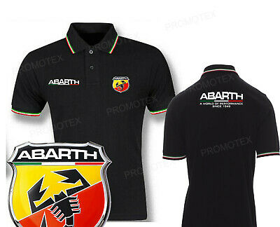 polo ABARTH PERFORMANCE cotone tricolore italia racing maglietta corse