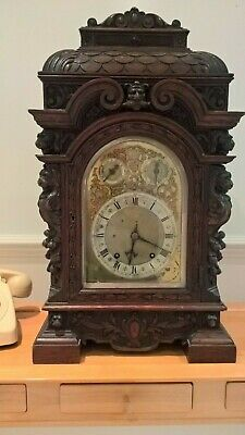 Mahogany 1/4 striking bracket clock by Winterhalder & Hofmeier