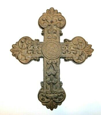 Decorative Rustic Iron Cross Ornate design hanging Christian decor