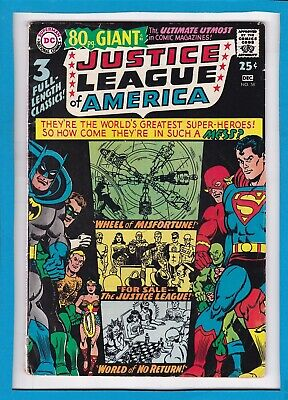 JUSTICE LEAGUE OF AMERICA #58_DECEMBER 1967_FINE_DC BRONZE 80pg GIANT_G-41!