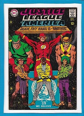 "Justice League Of America #57_Nov 1967_Fine Minus_""Man, Thy Name Is...brother""!"