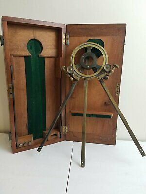 Antique ca1900 Troughton & Simms Station Pointer Or Navy Ship's Protractor
