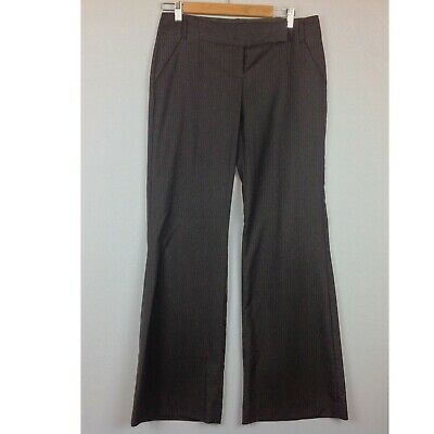 The Limited Drew Fit Dress Pants Womens 6 Brown Pinstripe