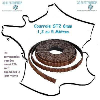 Courroie Premium GT2 6mm pas 2mm (1,2 ou 5m) imprimante 3d timing belt 3d print